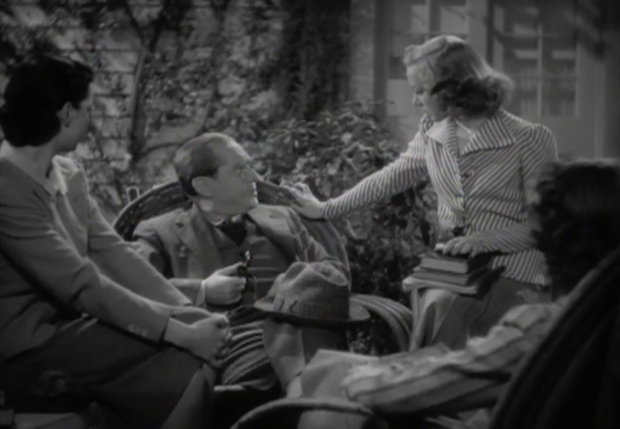Dotty (left) and Alice (right) share a conversation with the visiting Mr. Fisher (center). (Screen capture by Lindsey for TMP)