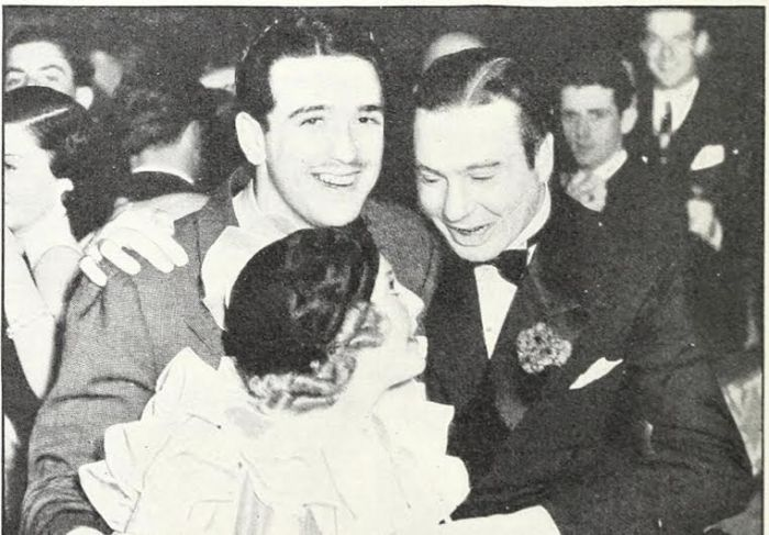 Thelma with then-husband Pat De Cicco and another guest at a Hollywood party. (Image courtesy of the publisher, Chicago Review Press)