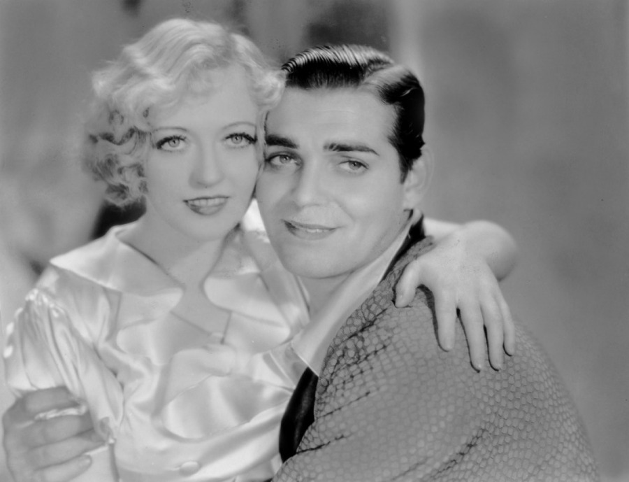 Davies and Gable -- not quite the dream team, more impressive in 'Cain and Mabel' than 'Polly of the Circus' (Image via toutlecine.com)