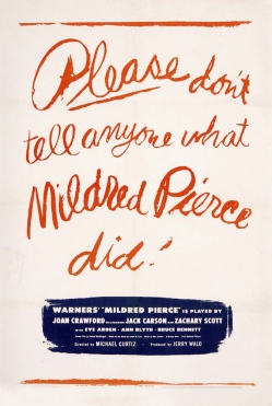 Advertisement for the 1945 adaptation of Mildred Pierce (Image via Doctor Macro)