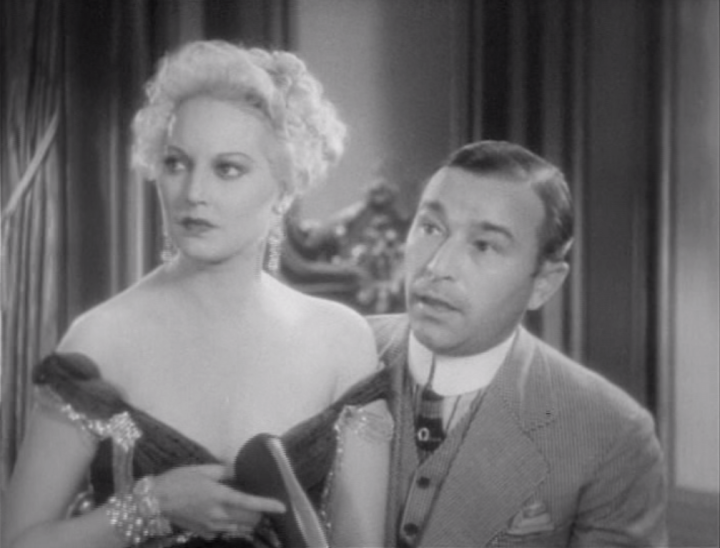 Thelma Todd makes a brief but well-performed appearance as the party gal who wins the elder Palooka's heart, swaying him away from his family. (Screen capture by Lindsey for TMP)