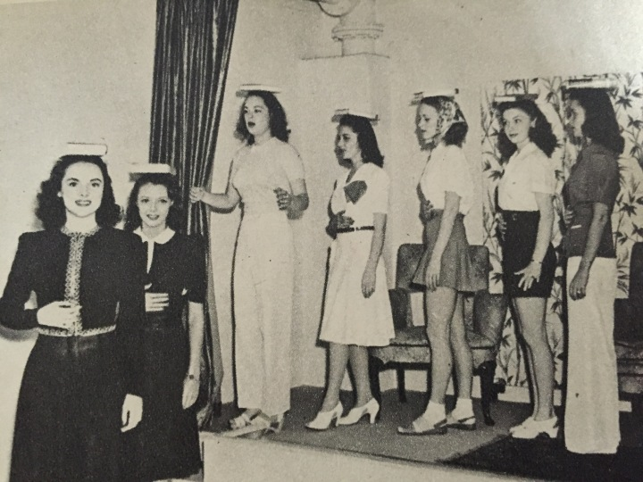 Actresses in training work on their posture (From my collection)