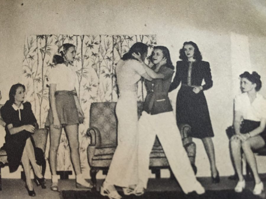 Young actresses learn to stage a convincing on-screen fight in one of their drama classes (From my collection)